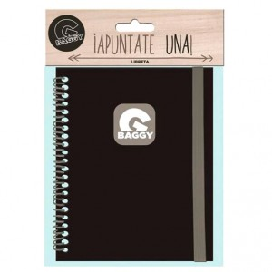 Baggy black notebook