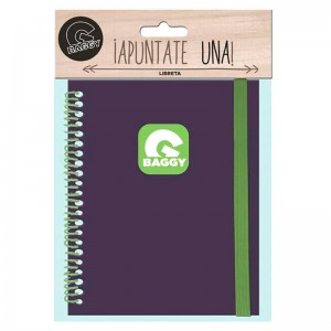 Baggy purple notebook