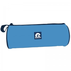 Baggy Blue cylindrical pencil case