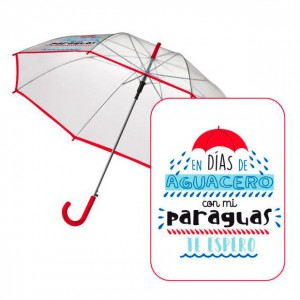 Automatic transparent umbrella Baggy Aguacero