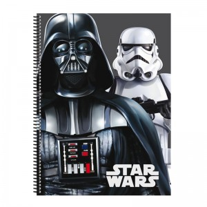 A5 sized notebook 80h squared Star Wars Flash