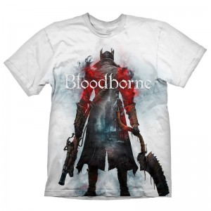 Bloodborne Hunter Street white t-shirt