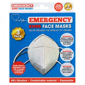 3-pack face masks KN95 3 PLY
