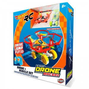 Hot Wheels Bladez Drone + radio control car set