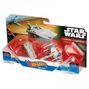 Blister First Order Transporter X-Wing Star Wars Hot Wheels