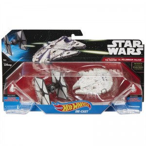 Blister First Order TIE Millennium Falcon Star Wars Hot Wheels