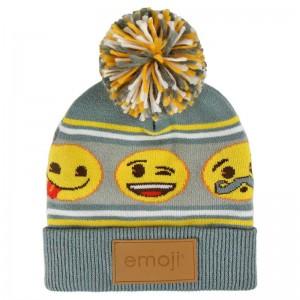 Emoji premium jacquard bobble hat