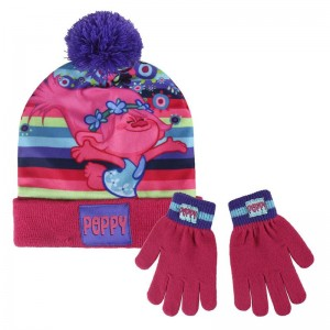 Trolls set hat gloves