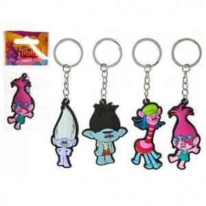 Trolls assorted rubber keychain 6cm