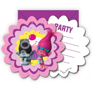 Trolls Poppy 6-pack invitations for parties
