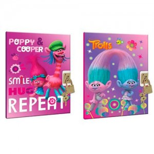 Trolls Poppy diary with locker