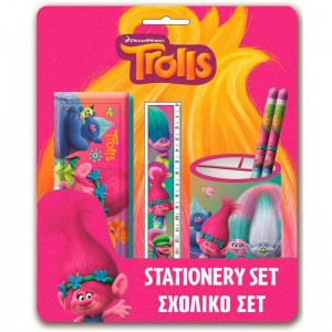 Trolls stationery set with cup