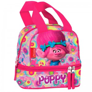 Trolls Poppy Flowers double pocket lunch bag