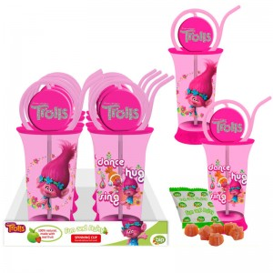 Spinning candy cup container Trolls